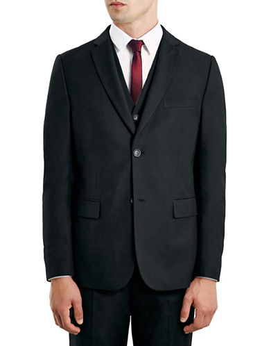 Topman New Fit Slim Sports Jacket-BLACK-46