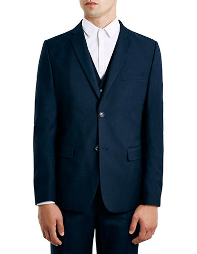 Topman New Fit Slim Sports Jacket-DARK BLUE-40