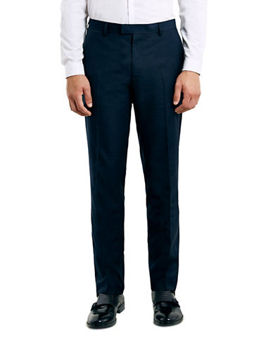 Topman Slim Suit Trousers-NAVY-32