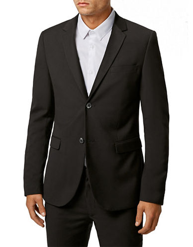 Topman Ultra Skinny Suit Jacket-BLACK-34