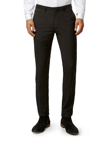 Topman Ultra Skinny Dress Pants-BLACK-34 Short