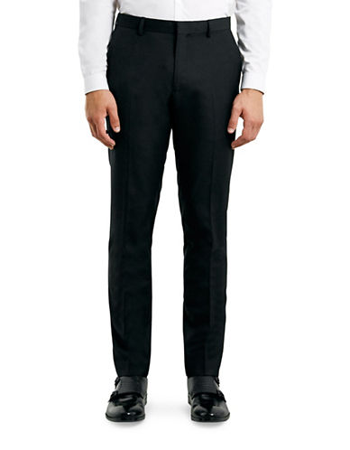 Topman Skinny Dress Pants-BLACK-30 Long