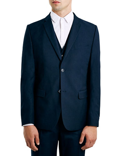 Topman New Fit Slim Sports Jacket-DARK BLUE-42