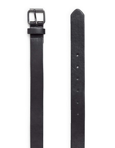 Topman Leather-Look Belt-BLACK-Small