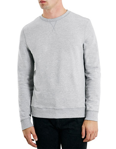 Topman Classic Crew Neck Sweater-GREY-Medium 87975711_GREY_Medium