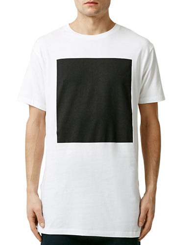 Topman White Square T-Shirt-WHITE-Large 88210256_WHITE_Large