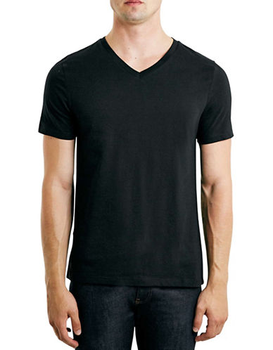 Topman Classic V-Neck T-Shirt-BLACK-X-Small 88238365_BLACK_X-Small