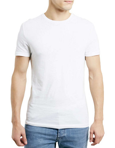 Topman Slim Fit Crew Neck T-Shirt-WHITE-Large