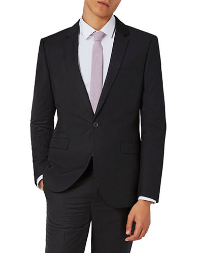 Topman Skinny Fit Suit Jacket-BLACK-40