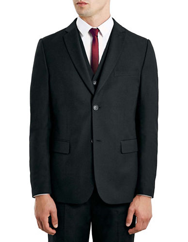 Topman New Fit Slim Sports Jacket-BLACK-40