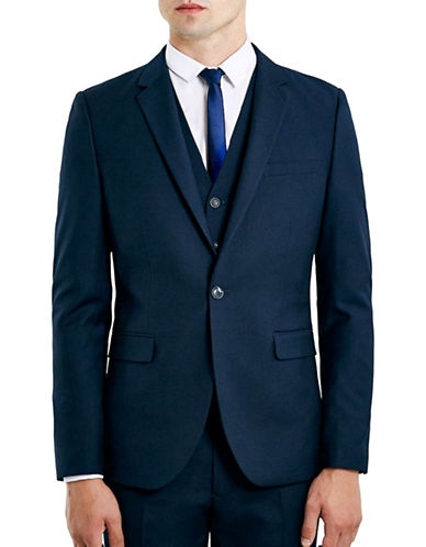Topman New Fit Skinny Suit Jacket-DARK BLUE-44