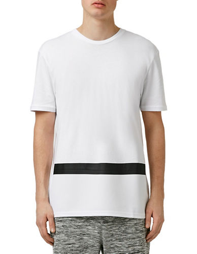 Topman Cut and Sew Tape T-Shirt-WHITE-X-Small 88313570_WHITE_X-Small