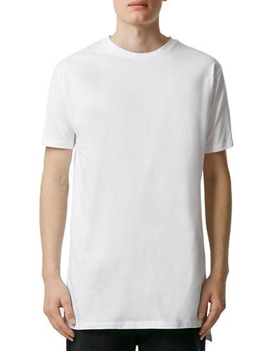 Topman Slim Longline T-Shirt-WHITE-X-Large 88275054_WHITE_X-Large