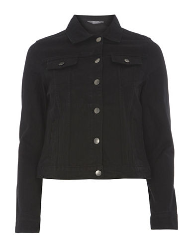 Dorothy Perkins Denim Jacket-BLACK-UK 16/US 12