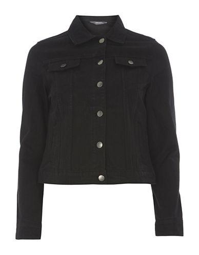 Dorothy Perkins Denim Jacket-BLACK-UK 16/US 12