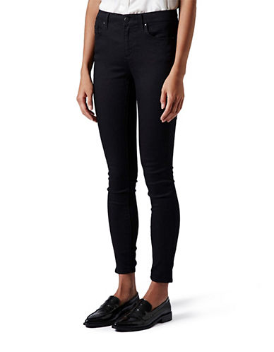Topshop MATERNITY MOTO Leigh Skinny Jeans 30 Inch Leg-BLACK-UK 14/US 10