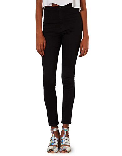 Topshop MOTO Black Joni Jeans 36 Inch Leg-BLACK-28X36