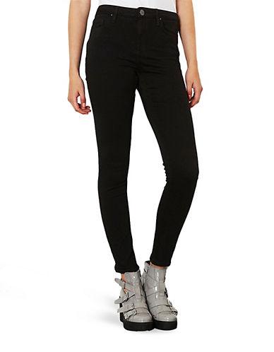 Topshop PETITE MOTO Jamie Jeans 28 Inch Leg-BLACK-28X28