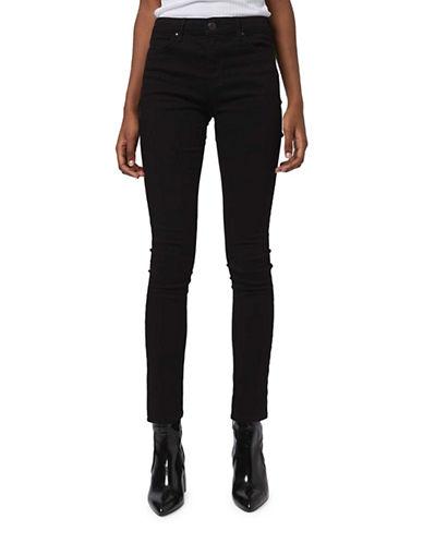 Topshop MOTO Black Leigh Jeans-BLACK-25X30