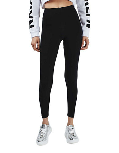 Topshop New Ankle Length Leggings-BLACK-UK 6/US 2