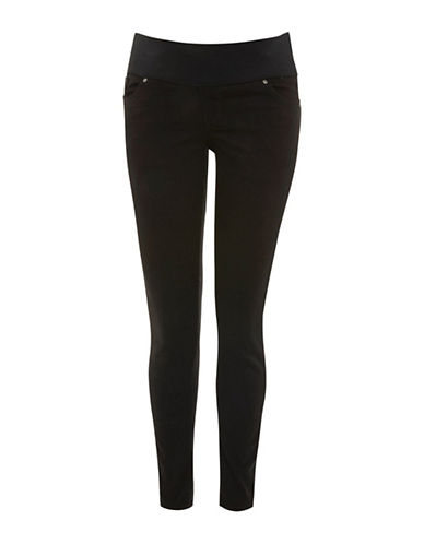 Topshop MATERNITY Black Jamie Jeans-BLACK-UK 10/US 6