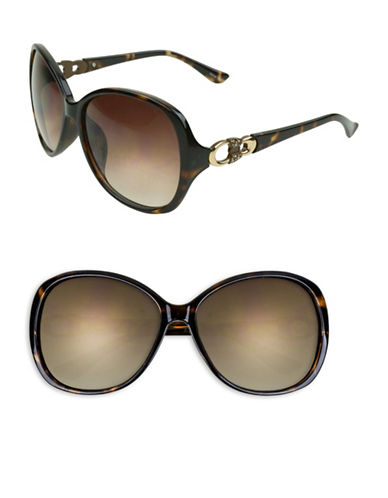 Edit By Jeanne Beker Alannah 61mm Oversized Square Sunglasses-TORTOISE/GOLD-One Size
