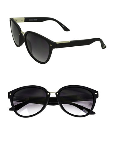 Edit By Jeanne Beker Modified Wayfarer Sunglasses-BLACK-One Size