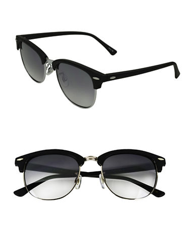Edit By Jeanne Beker Veronica 50mm Clubmaster Sunglasses-BLACK-One Size