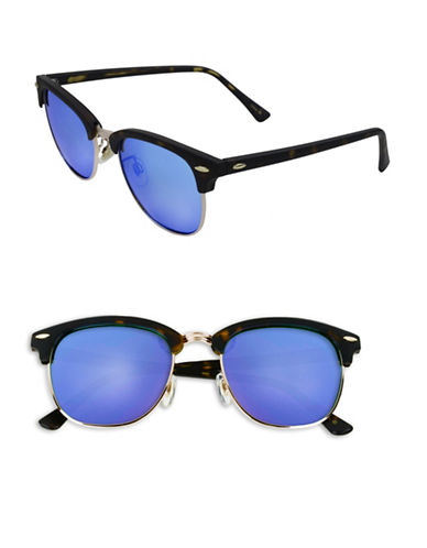 Edit By Jeanne Beker Veronica 50mm Clubmaster Sunglasses-TORTOISE/BLUE-One Size
