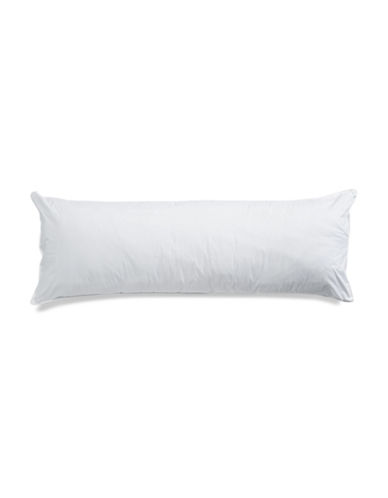 Essential Needs 230 Thread-Count Body Pillow-WHITE-One Size