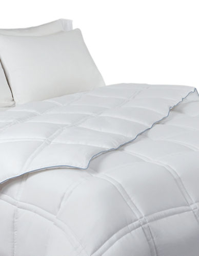 Live Comfortably Platinum Coolmax Coolfx Down Alternative Medium Weight Duvet-WHITE-Queen