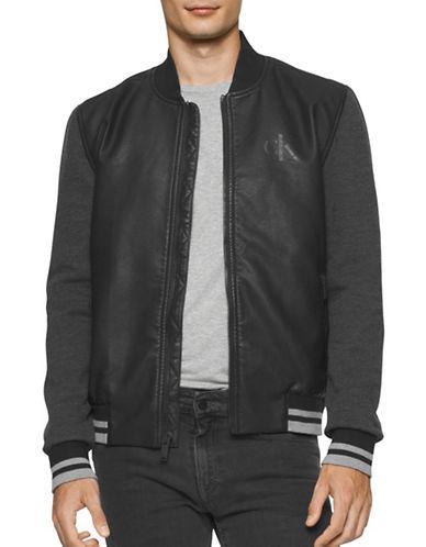 Calvin Klein Jeans Hybrid Baseball Jacket-BLACK-X-Large 88776368_BLACK_X-Large