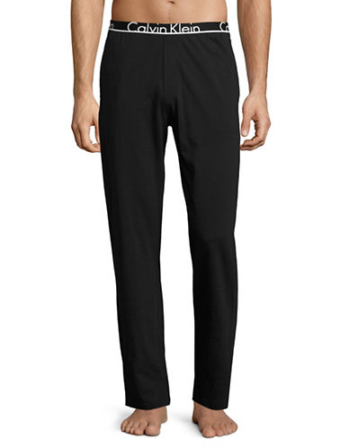 Calvin Klein ID Cotton Joggers-BLACK-Large