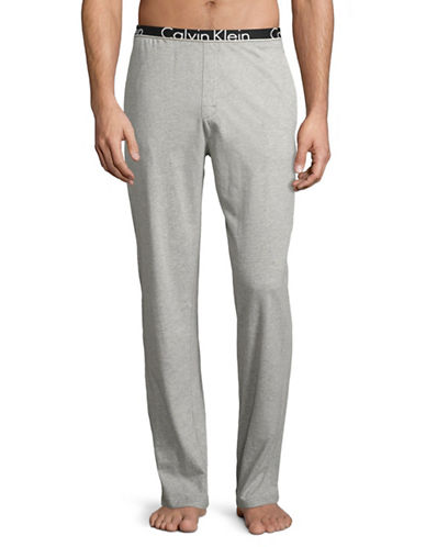 Calvin Klein ID Cotton Joggers-HEATHER GREY-Small