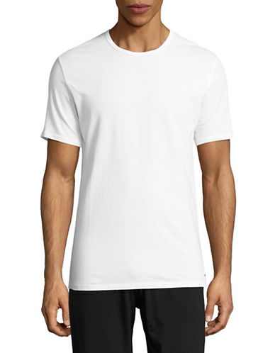 Calvin Klein ID Cotton Slim-Fit T-Shirt-WHITE-Medium 89113547_WHITE_Medium