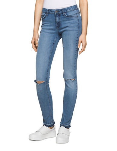 Calvin Klein Jeans Ultimate Skinny Ripped Jeans-BLUE-32