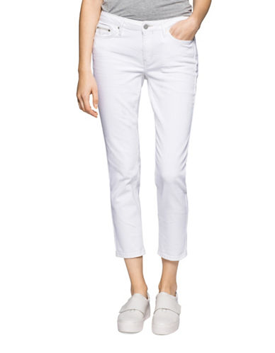 Calvin Klein Jeans Ultimate Skinny Ankle Jeans-WHITE-28