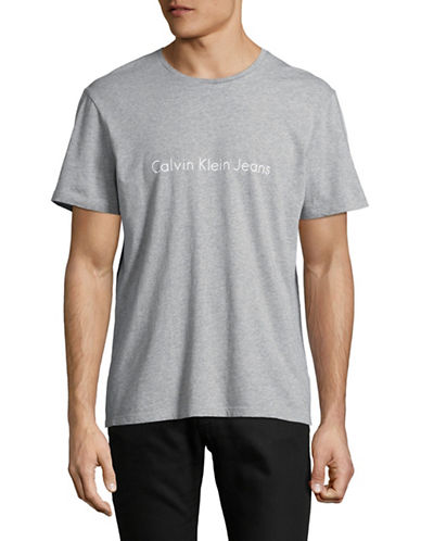 Calvin Klein Jeans Jeans Logo Graphic Tee-GREY-Small