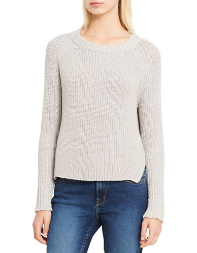 Calvin Klein Jeans Cable-Knit Sweater-BEIGE-Large