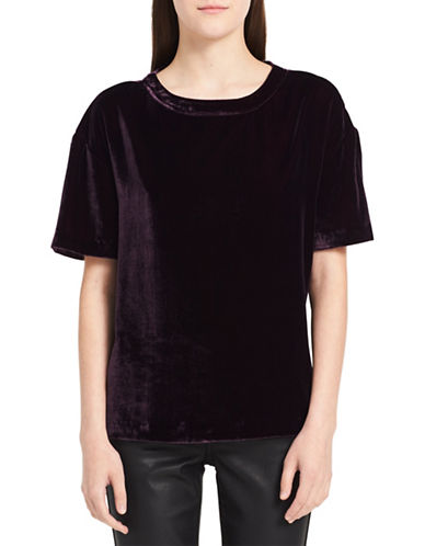 Calvin Klein Jeans Velvet Tee-PURPLE-Medium