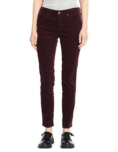 Calvin Klein Jeans Velvet Ankle-Length Skinny Jeans-PURPLE-27