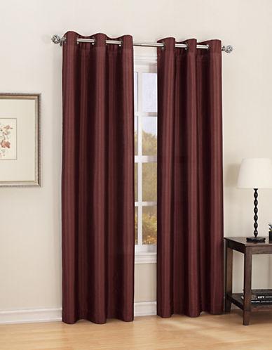 Home Studio Sasha Faux Silk Window Panel-ORANGE-One Size