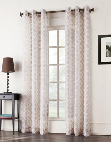 Home Studio Tarani Aqua Sheer Window Panels-TAUPE-84 inches