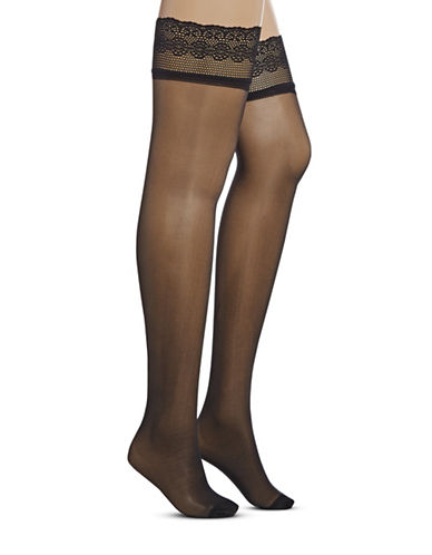 Dim Lace Thigh-Highs-BLACK-2