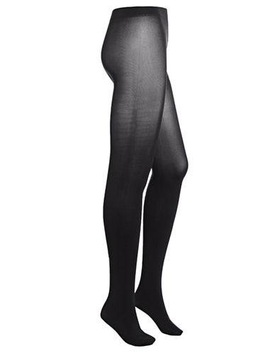 Dim Mod Velvet Pantyhose-BLACK-3/4