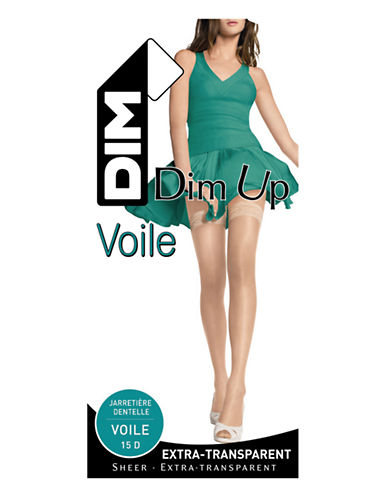 Dim Dim Up Voile Stay Ups-AMBER-2