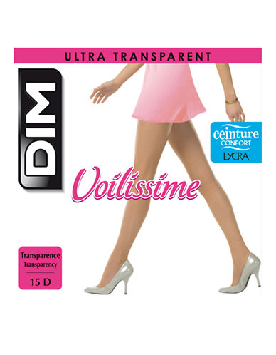 Dim Voilissime Ultra Transparent Pantyhose-BLACK-1
