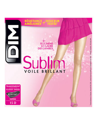 Dim Sublim Glossy Sheer Pantyhose 15D-BLACK-1