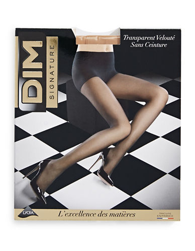 Dim Sheer Waistless Pantyhose-BEIGE-3
