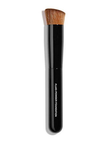 Chanel PINCEAU TEINT 2 EN 1 FLUIDE ET POUDRE <br> 2-IN-1 Foundation Brush Fluid and Powder-BLACK-One Size